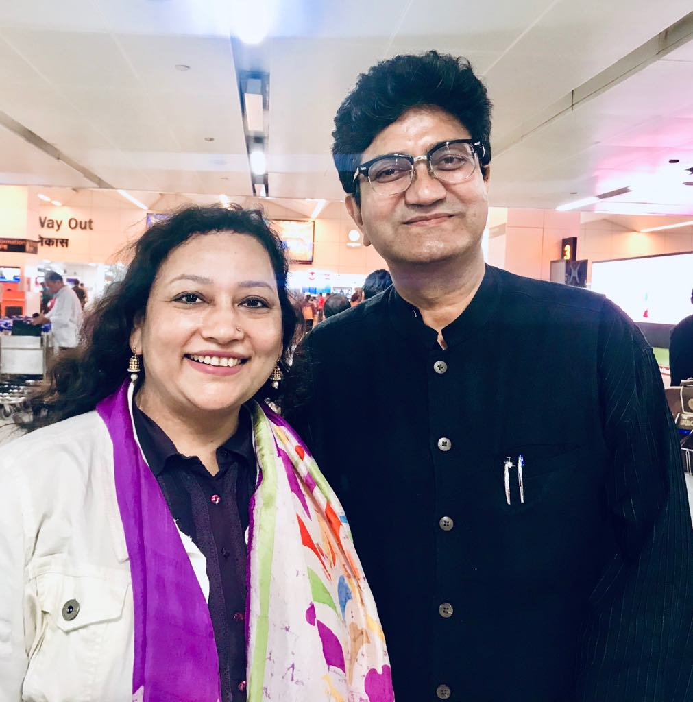 With Prasoon Joshi Ji  Bollywood Celebrity Lyricist