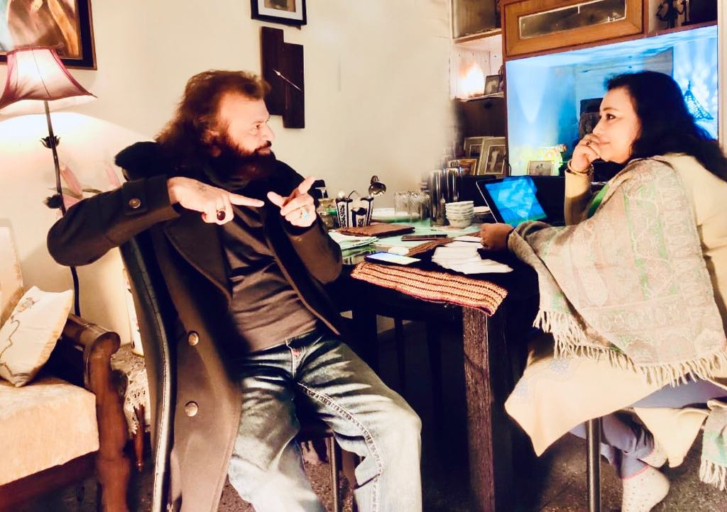 In session with Hans Raj Hans ji ( MP and Celebrity Bollywood Sufi- Folk Singer)