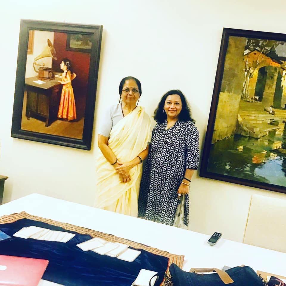 In session with Mrs. Pratibha Sharad Pawar