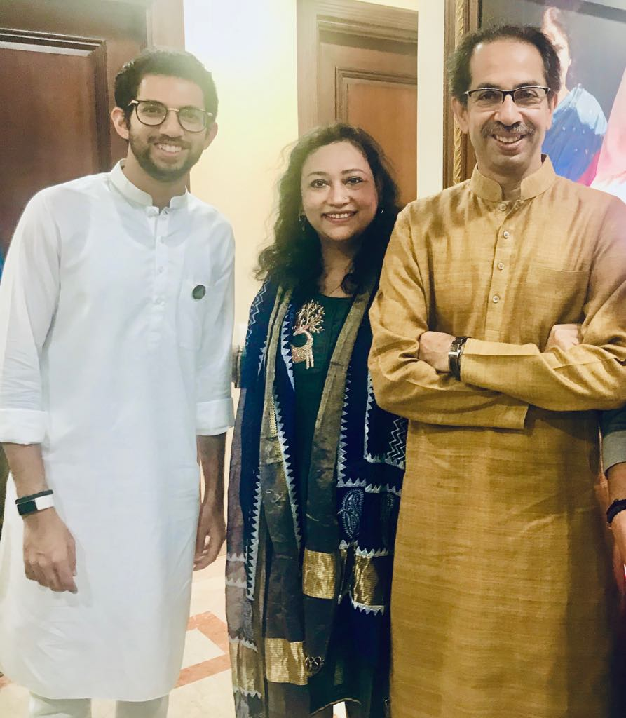 With Uddav Thackeray Ji  ( Chief Minister, Maharashtra) & Aditya Thackeray ( Minister Of Environment, Maharashtra)